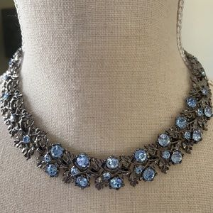 Stunning Necklace & Bracelet w/ blue gems (NEW)